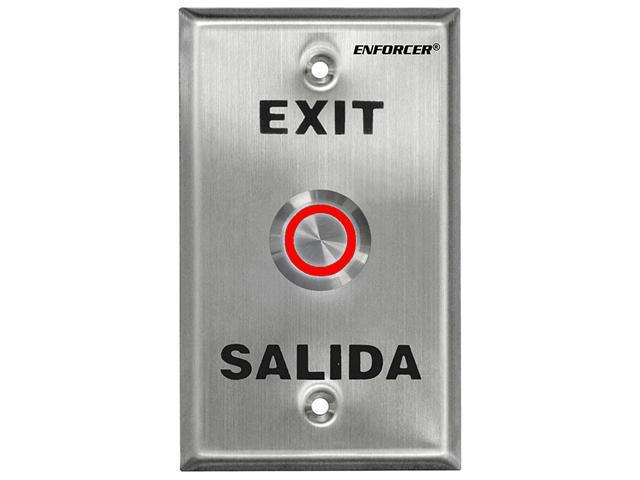 "SECO-LARM Enforcer Single Gang Request-to-Exit Plate with 1"" Illuminated Red/Gre"