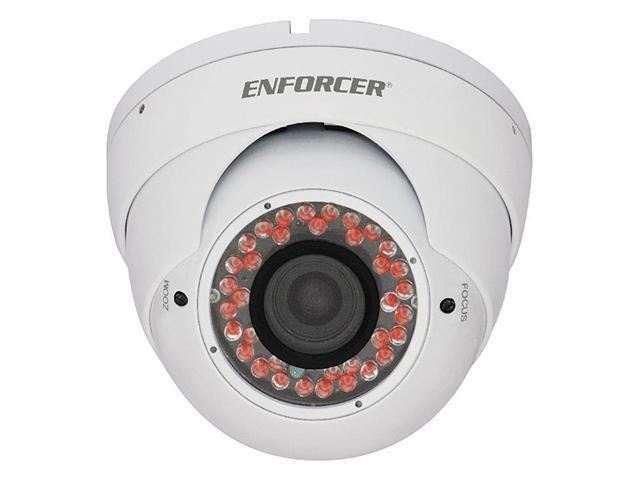 SECO-LARM Enforcer 36 IR LED Indoor/Outdoor Vandal-Resistant Color Dome Camera,