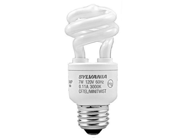 Sylvania 7 Watt Mini-Twist CFL Medium Base Light Bulb