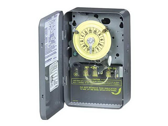 INTERMATIC T106R Electromechanical Timer, 24-Hour, 1NO/1NC