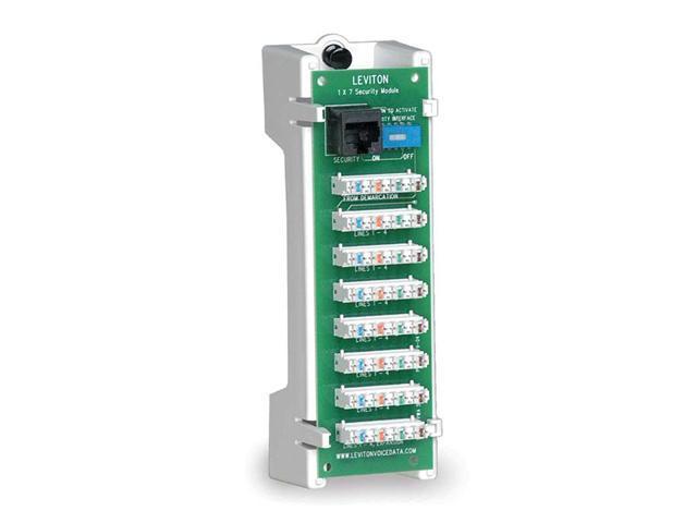 Leviton 47609-TSV 1x7 Telephone Security Module with Bracket