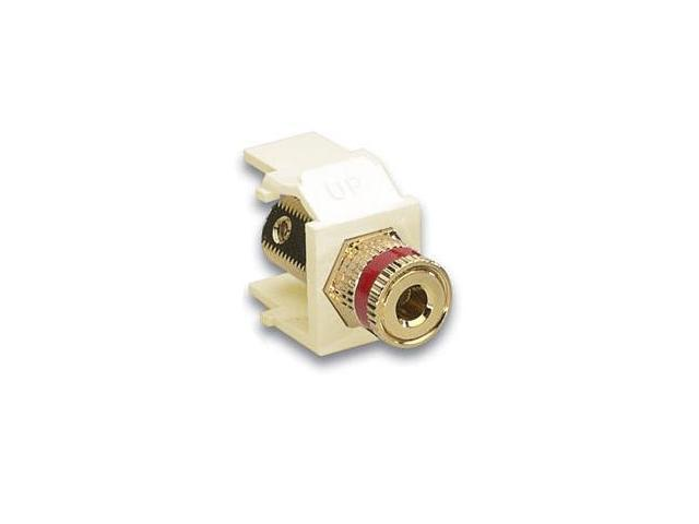 Leviton 40833-BIR QuickPort Binding Post Connector Red, Ivory