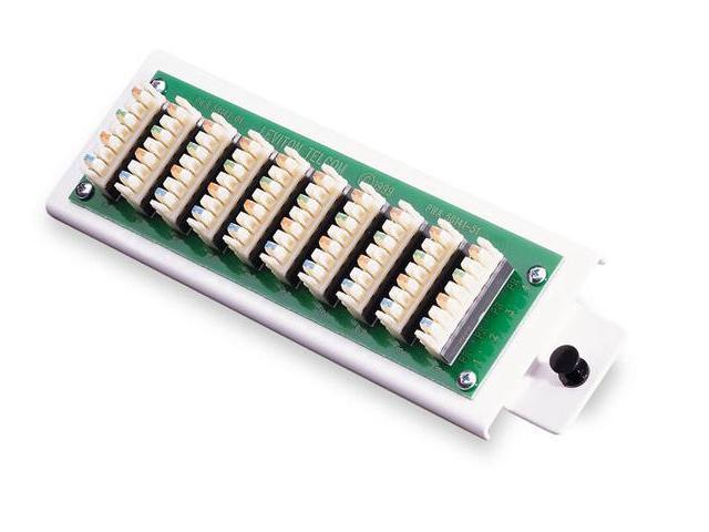 Leviton 1x9 Bridged Telephone Module (47689-B)