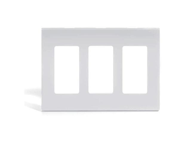 Leviton 80311-SW Triple-Gang Screwless Decora Wall Plate, White