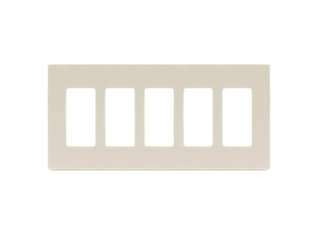 Aspire PJS265A 5-Gang Wall Plate - Almond