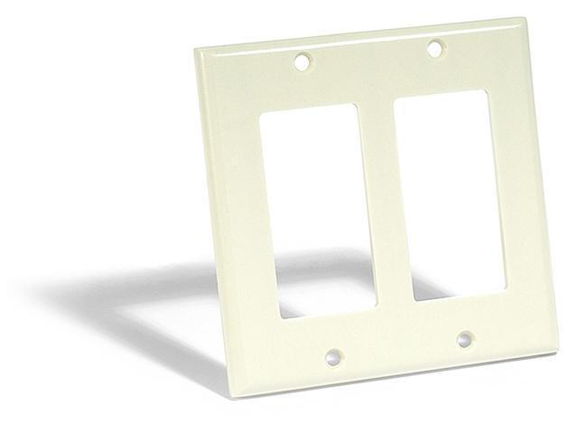 Decora Switch 2-Gang Plate Almond LEVITON MFG Decorative Switch Plates 80409-A