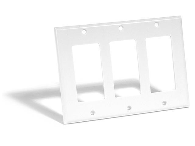 Leviton 80411-W 3-Gang Decora-Style Wall Plate, White