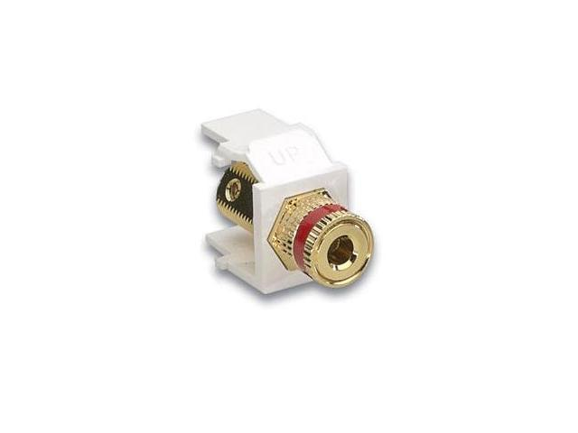 Leviton 40833-BWR QuickPort Binding Post Connector, Red