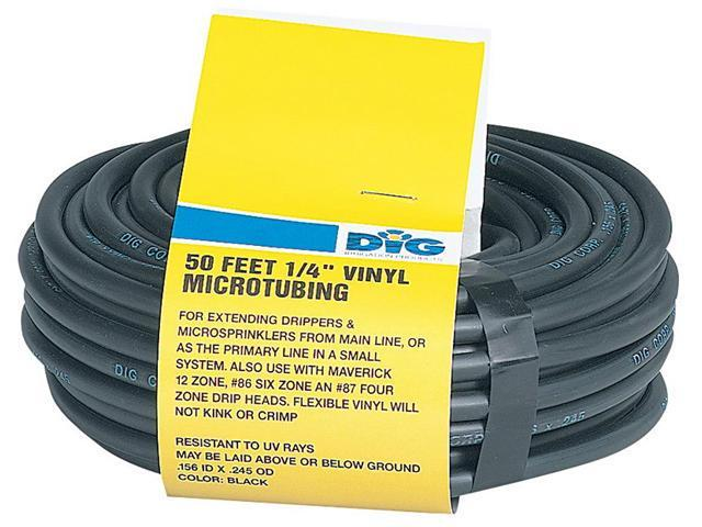 DIG Irrigation B38 1/4 Inch Vinyl Micro Tubing, 50 Foot Coil, Black