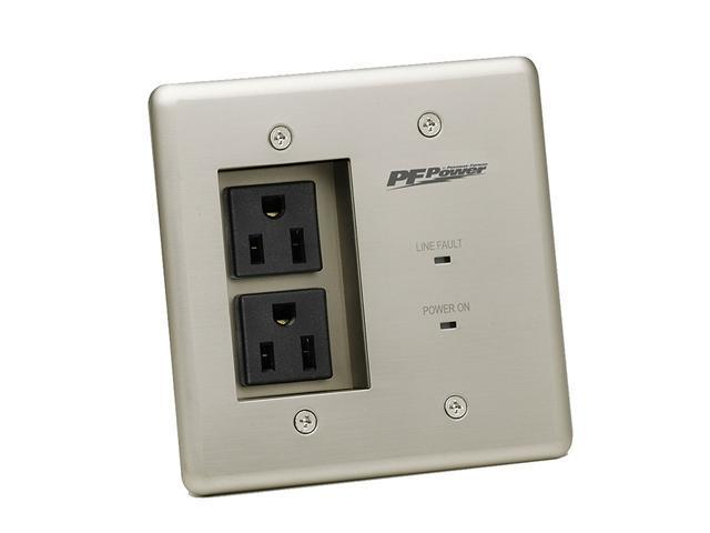Panamax Dual-Outlet Double-Gang In-Wall Surge Suppressor and Power Filter