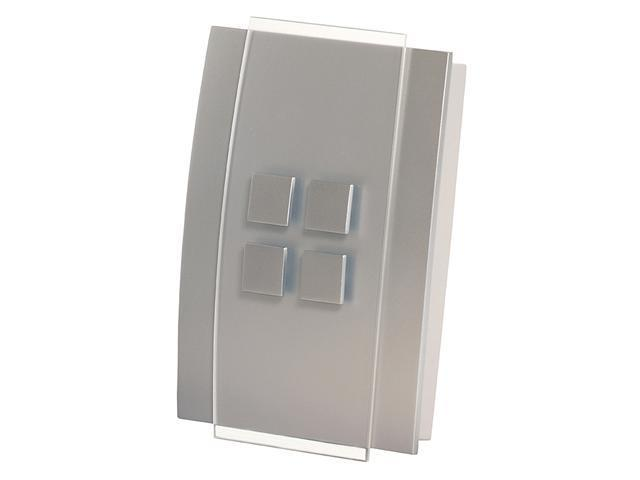 Honeywell RCWL3501A1004/N Wireless Door Chime with Button, Brushed Nickel