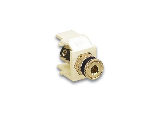 Leviton 40833-BIE QuickPort Binding Post Connector Black, Ivory