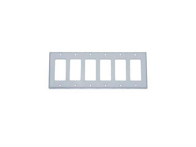 Decora Switch 6-Gang Plate White LEVITON MFG Decorative Switch Plates 80436-W