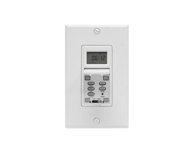 GE 7-Day Smart Digital Timer Switch, White