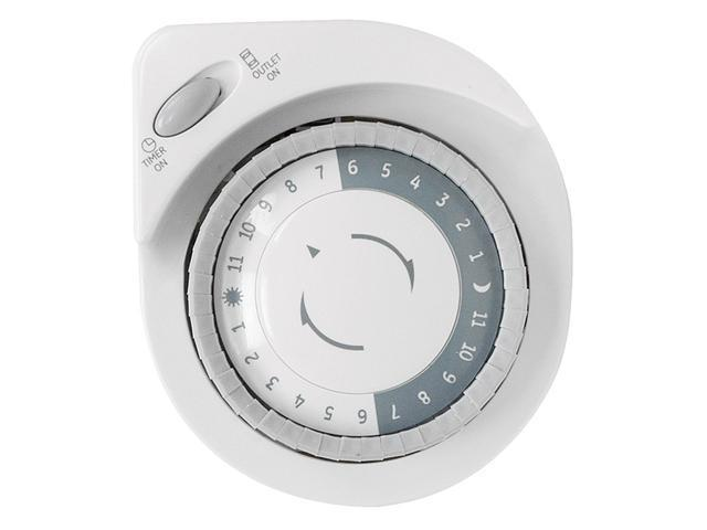 GE 24-Hour Big Button Mechanical Timer, White