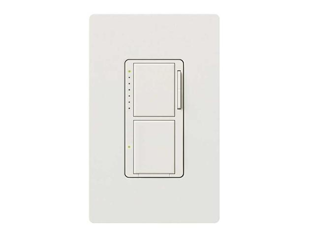 Lutron Maestro Combo Dimmer/Switch 300/25 White LUTRON ELECTRONICS MA-L3S25-WH