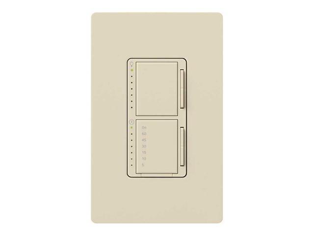 Lutron MA-L3T251-LA Maestro 300 Watt Dual Dimmer and Timer Switch, Light Almond
