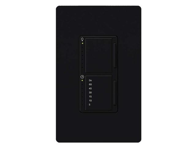 Lutron MA-L3T251-BL Maestro 300 Watt Dual Dimmer and Timer Switch, Black