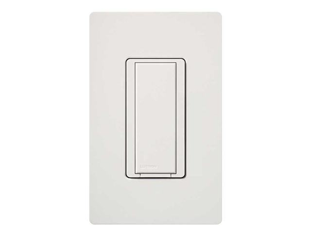 LUTRON MA-AS-WH Wall Switch, 1-Pole, On/Off, White