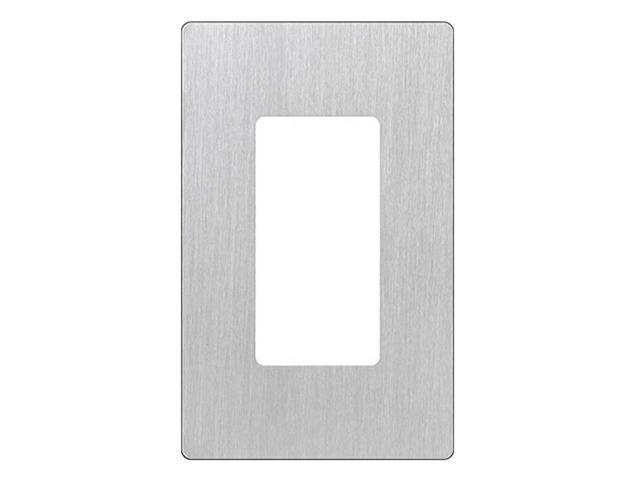 Lutron CW-1-SS Claro 1-Gang Wallplate, Stainless Steel