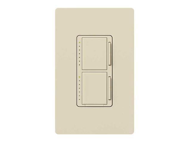 Lutron MA-L3L3-LA Maestro 300 Watt Dual Dimmer Switch, Light Almond