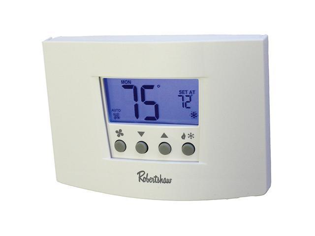 Robertshaw RS6220 24-Volt AC 2 Heat / 2 Cool 7-Day Digital Programmable Thermost