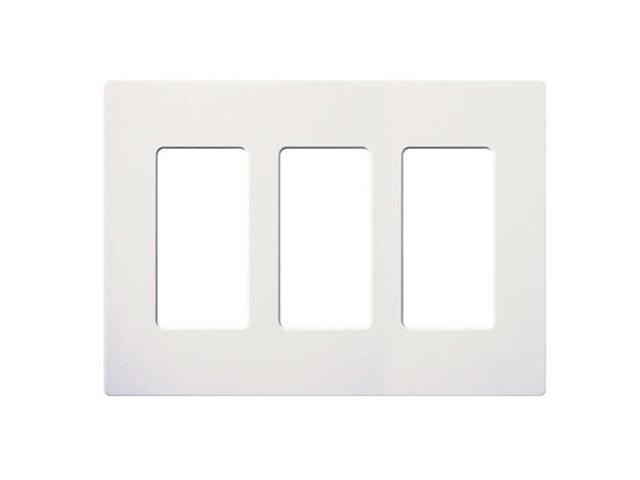 lutron claro 3 gang wallplate white lutron electronics. Black Bedroom Furniture Sets. Home Design Ideas