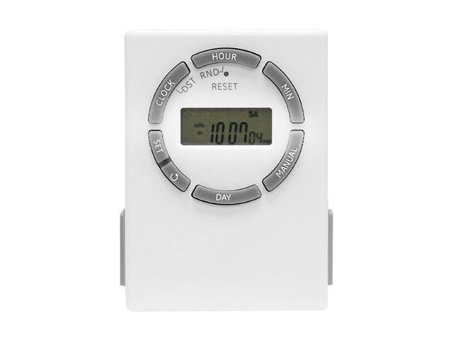 GE 15079 7-Day Digital Plug-In Lamp/Appliance Timer (2 Outlets)