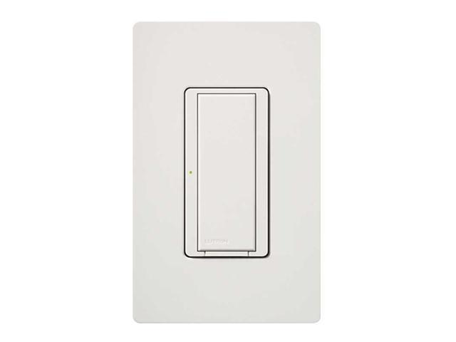 LUTRON MRF2-8S-DV-WH Wireless Wall Switch, 1-Pole, On/Off, White