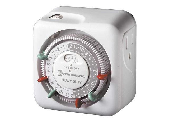 Intermatic TN311C Plug-in Mechanical Lamp and Appliance Timer (High Wattage)