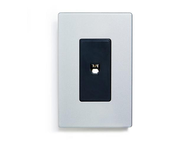 Aspire 9545-4SG Telephone Outlet - Silver Granite