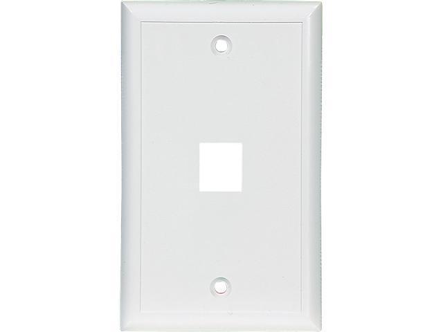 Cooper Wiring Devices 5510B-MSP 1 Port Flush Modular Wallplate, Brown