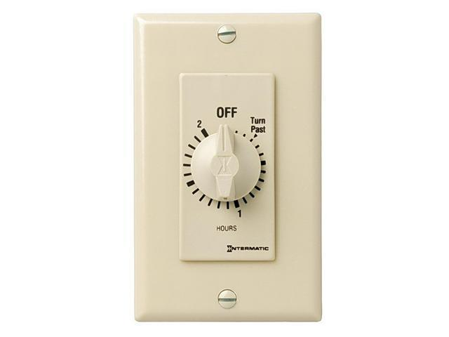 Intermatic FD2H SPST 2-Hour Spring Wound Timer - Ivory