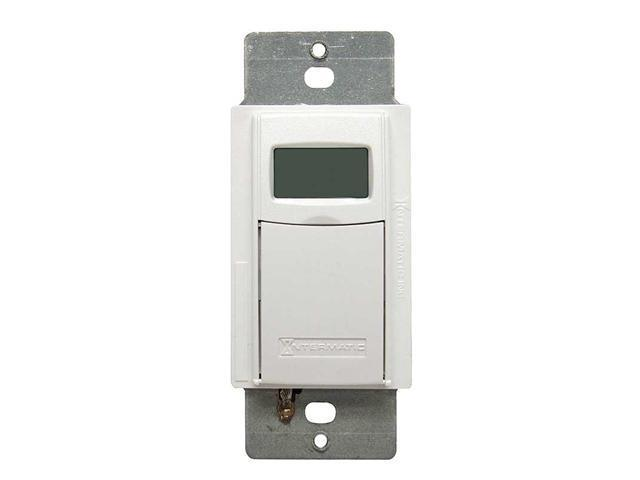 Intermatic EI600WC 7-Day Electronic In-Wall Timer, White