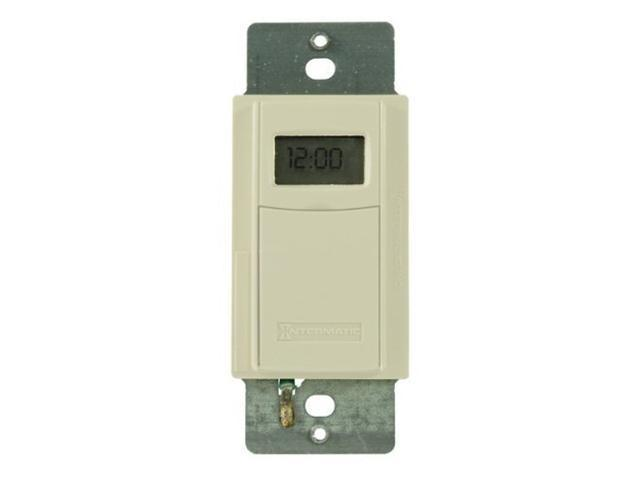 Intermatic EI600LAC 7-Day Electronic In-Wall Timer - Almond