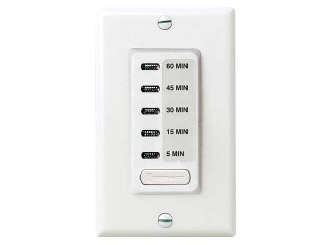 Intermatic EI205W 5/15/30/45/60 Electronic Auto-Off Timer - White