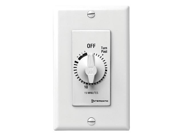 Intermatic FD15MWH SPST 15-Minute Spring Wound Timer - White