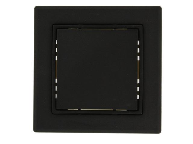 Leviton WSS0S-E0E LevNet Self-Powered 3 x 3 Single Rocker Switch, Black