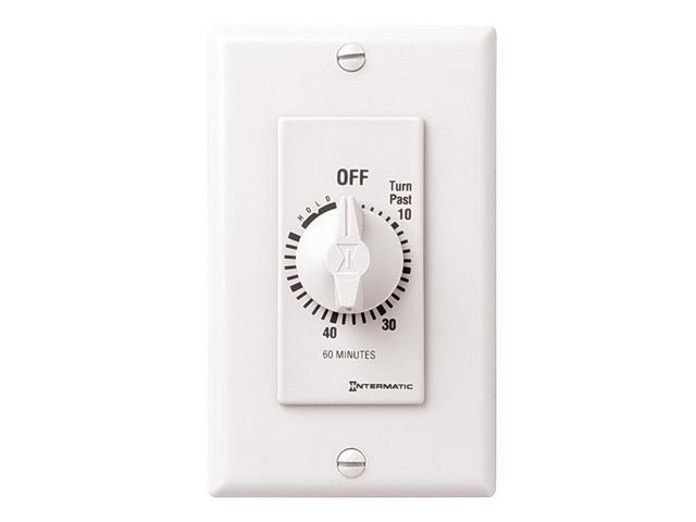 Intermatic FD60MHW SPST 60-Minute  Spring Wound Timer - White