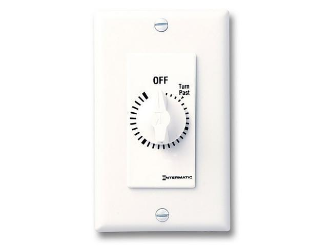 Intermatic FD6HHW SPST 6-Hour Spring Wound Timer with Hold - White