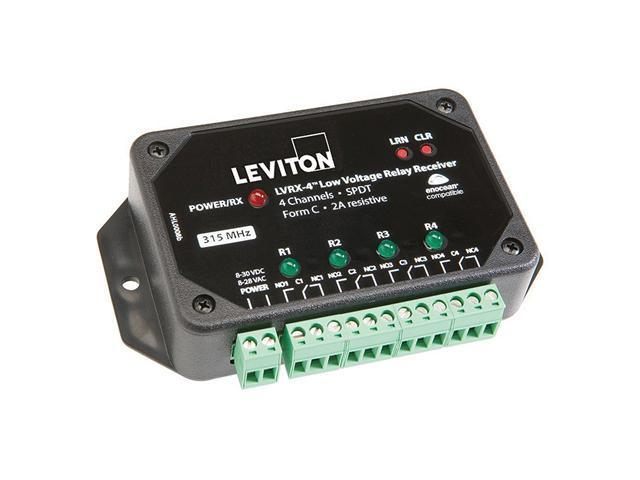Leviton WSPAS-LV4 LevNet Low Voltage Relay Receiver, 4-Channel