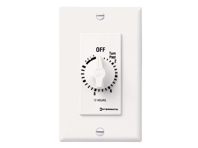 Intermatic FD12HHW SPST 12-Hour Spring Wound Timer - White
