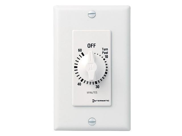 Intermatic FD460MW DPST 60-Minute Spring Wound Timer - White