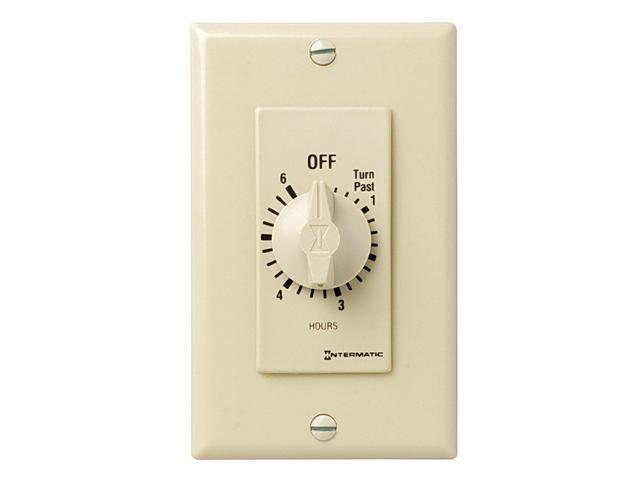 Intermatic FD46H DPST 6-Hour Spring Wound Timer - Ivory