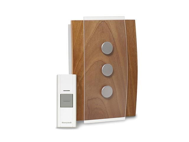 Honeywell RCWL3503A Décor Wood Cover with Satin Nickel Accents - Wireless Door C