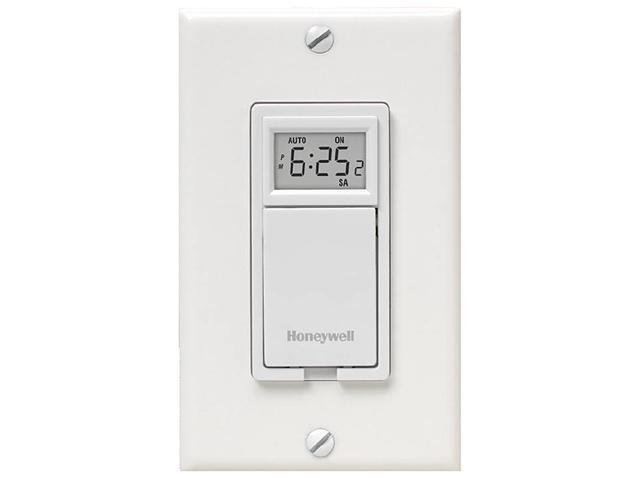 Honeywell RPLS730B1000/U 7-Day Programmable Switch for Lights and Motors - White