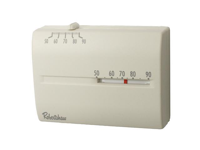 Robertshaw 9204H 24-Volt AC Heating Only Deluxe Mechanical Thermostat, SPST (Hor
