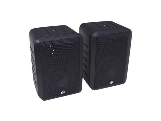 BIC America RtR V44-2B Indoor/Outdoor 3-Way Speakers, Black