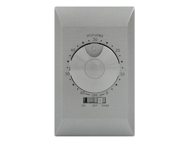 60-Minute Countdown Timer Single-Pole/Single-Throw, Silver GE Timers 15084