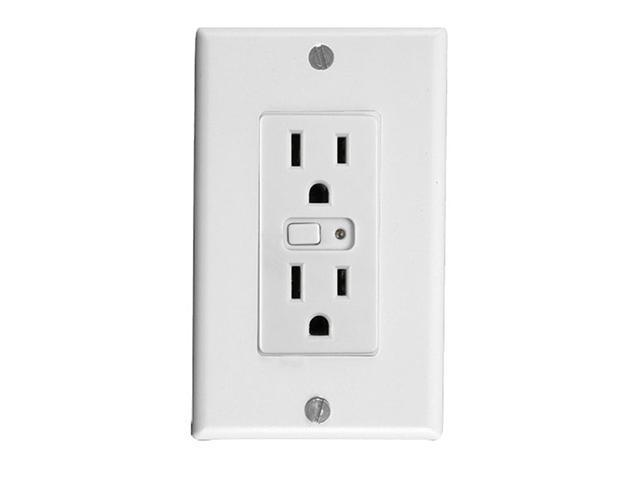 GE 45605 Z-Wave Wireless Lighting Control Duplex Receptacle